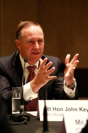 John Key对APEC中国工商理事会访新代表团表示欢迎